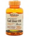 Sundown Naturals Cod Liver Oil Double Strength, 100 кап