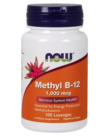 NOW Methyl B-12 1,000 mcg, 100 таб
