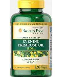 Puritan's Pride USA Evening Primrose Oil 1300 mg with GLA, 120 кап
