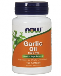 NOW Garlic Oil 1500 mg, 250 кап