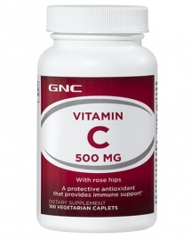 GNC Vitamin C 500 mg Rose Hips 100 кап