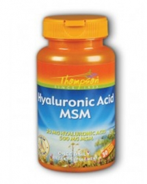 Thompson Hyaluronic Acid Plus MSM, 30 кап