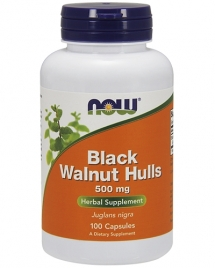 NOW Black Walnut Hulls 500 mg, 100 кап
