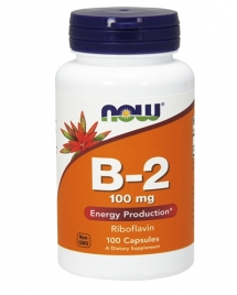 NOW Vitamin B-2 100 mg, 100 кап