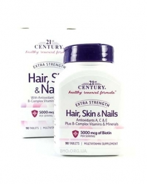 21st Century Hair, Skin & Nails, Extra Strength 90 таб